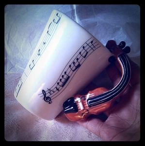 Vintage Novelty Musical Instrument Coffee/Tea Mug